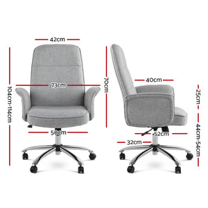Modern Office Fabric Desk Chair Grey - Online Discounts