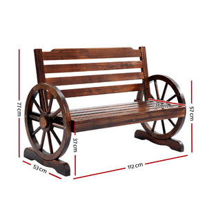 Fir Wood 2 Seater Bench - Online Discounts
