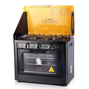 Portable Gas Oven and Stove Black and Yellow - Online Discounts