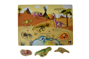 2 IN 1 DINOSAUR PEG PUZZLE