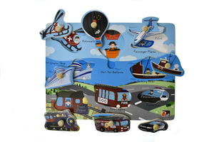 2 in 1 TRANSPORT PEG PUZZLE