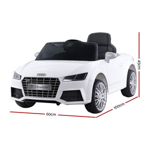Audi Licensed Kids Ride On Cars Electric Car Children Toy Cars Battery White