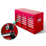 9 Drawer Mechanic Tool Box Storage - Red