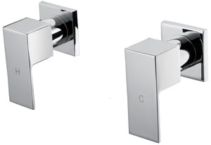 Chrome Bathroom Shower / Bath Mixer Tap Set w/ WaterMark