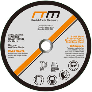 "230mm 9"" Cutting Disc Wheel for Angle Grinder x50"