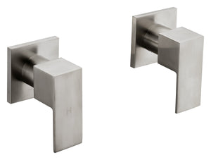 Chrome Bathroom Shower / Bath Mixer Tap Set with Brushed Finish w/ WaterMark