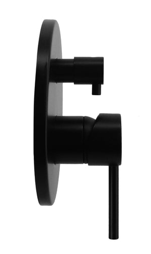 Shower Bath Mixer Diverter Tap WATERMARK Approved Electroplated Matte Black
