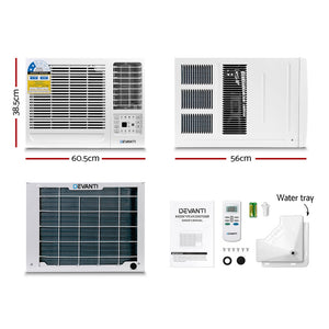 Devanti 2.6kW Window Air Conditioner(Cooling Only)