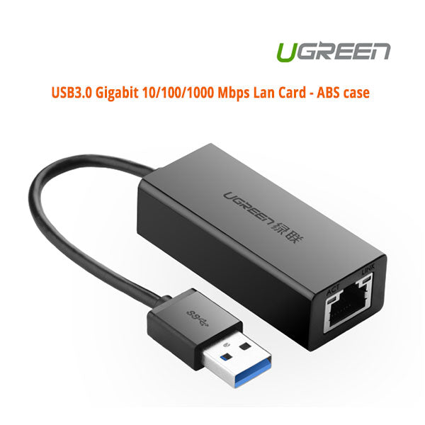 UGREEN USB3.0 Gigabit 10/100/1000 Mbps Network Adapter (20256)