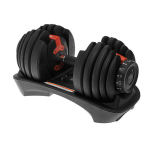 48kg Powertrain Adjustable Dumbbell Set With Stand