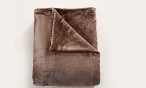 320GSM 220x160cm Ultra Soft Mink Blanket Warm Throw in Mink Colour