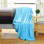 320GSM 220x240cm Ultra Soft Mink Blanket Warm Throw in Teal Colour