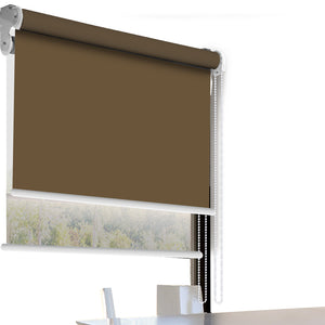 Modern Day/Night Double Roller Blinds Commercial Quality 120x210cm All White