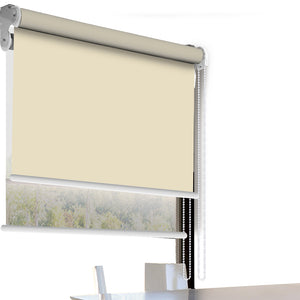 Modern Day/Night Double Roller Blinds Commercial Quality 90x210cm Cream White