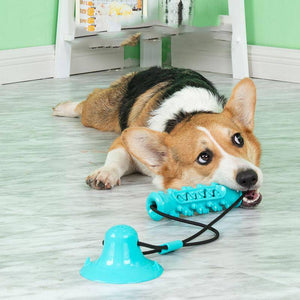 Dog Silicone Chew Toys With Suction Cup