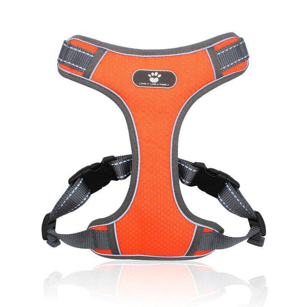 Adjustable Dog Harness Vest Orange S