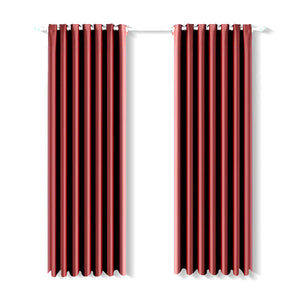 2x Blockout Curtains Panels Blackout 3 Layers Eyelet Room Darkening  140x230cm