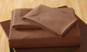 Ultra Soft Fitted Bed Sheet with one Pillow Case King Single Chocolate