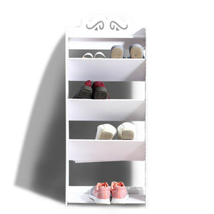5 Tiers 43 Width Tilt Chic Hollow Shoe Rack Stand Storage Organiser Shelf