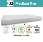 Memory Foam Mattress Topper 25cm Comfort  Washable Cover King