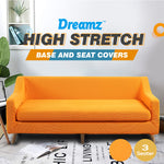Couch Sofa Seat Covers Stretch Protectors Slipcovers 3 Seater Orange