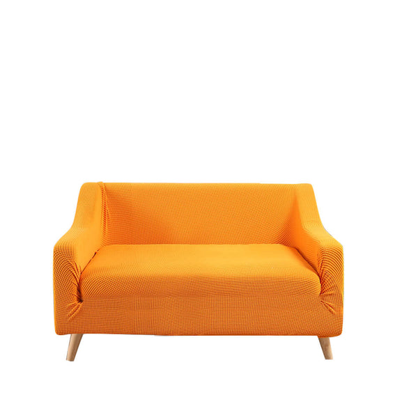 Couch Stretch Sofa Lounge Cover Protector Slipcover 2 Seater Orange
