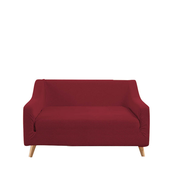 Couch Stretch Sofa Lounge Cover Protector Slipcover 2 Seater Wine