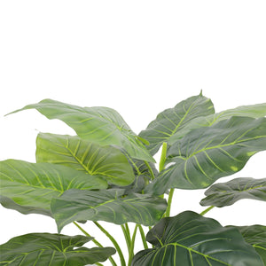 Artificial Potted Taro Plant / Elephant Ear 70cm