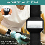 New Magnetic Wrist Band Strap Magnet Screws Bolts Nuts Nails Handy Tools Holder