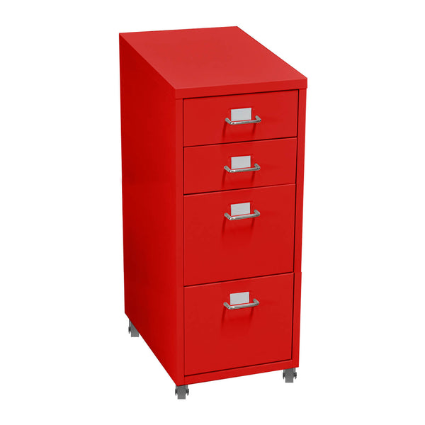 4 Tiers Steel Orgainer Metal File Cabinet With Drawers Office Furniture Red