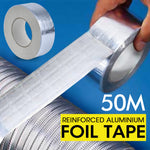 Reinforced Aluminium Foil Tape Insulation Heating Duct Silver 50mm x 50M