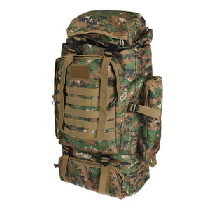 80L Military Tactical Backpack Rucksack Hiking Camping Outdoor Trekking Army Bag