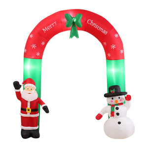 Inflatable Christmas Santa Snowman with LED Light Xmas Decoration Outdoor Type 2