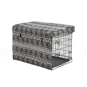 Metal Dog Kennel Black 30""
