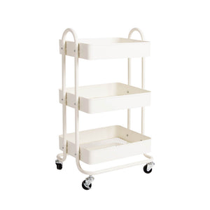 3 Tiers Steel Kitchen Storage Rack- White