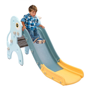 Kids Slide 135cm Long Play Set Toy Blue and yellow