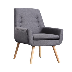 Luxury Upholstered Armchair-Grey