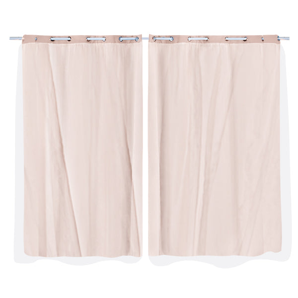 2x Blockout Curtains Panels 3 Layers Room Darkening 140x230cm Rose