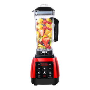 2L Commercial Blender Mixer Food Processor - Red