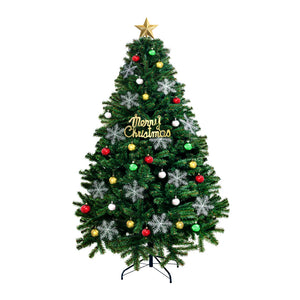 Christmas Tree Kit Xmas Decorations Colorful Plastic Ball Baubles with LED Light 2.4M Type2