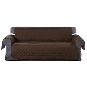 Sofa Cover Couch Lounge Protector Quilted Slipcovers Waterproof Coffee 335cm x 218cm