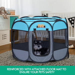 Poratble Foldable 8 Panel Pet Playpen Puppy Dog Cat Play Pens Cage Tent-JC1012-48-NV