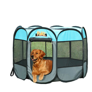 idropship Poratble Foldable 8 Panel Pet Playpen Puppy Dog Cat Play Pens Cage Tent