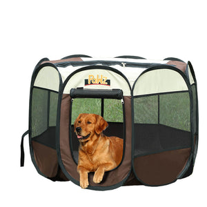 Dog Playpen Pet Play Pens Foldable Panel Tent Cage Portable Puppy Crate 52""