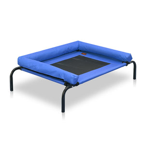 idropship Large Blue Heavy Duty Pet Bed Bolster Trampoline