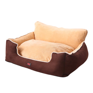 Pet Bed Dog Puppy Beds Cushion Pad Pads Soft Plush Cat Pillow Mat Brown M