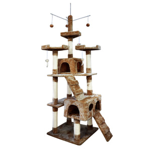 idropship 2.1M Cat Scratching Post Tree Gym House Condo Furniture Scratcher Tower