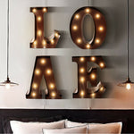 LED Metal Number Lights Free Standing Hanging Marquee Event Party Decor Number 6