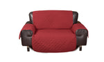 2 Seater Sofa Covers Quilted Couch Lounge Protectors Slipcovers Burgundy