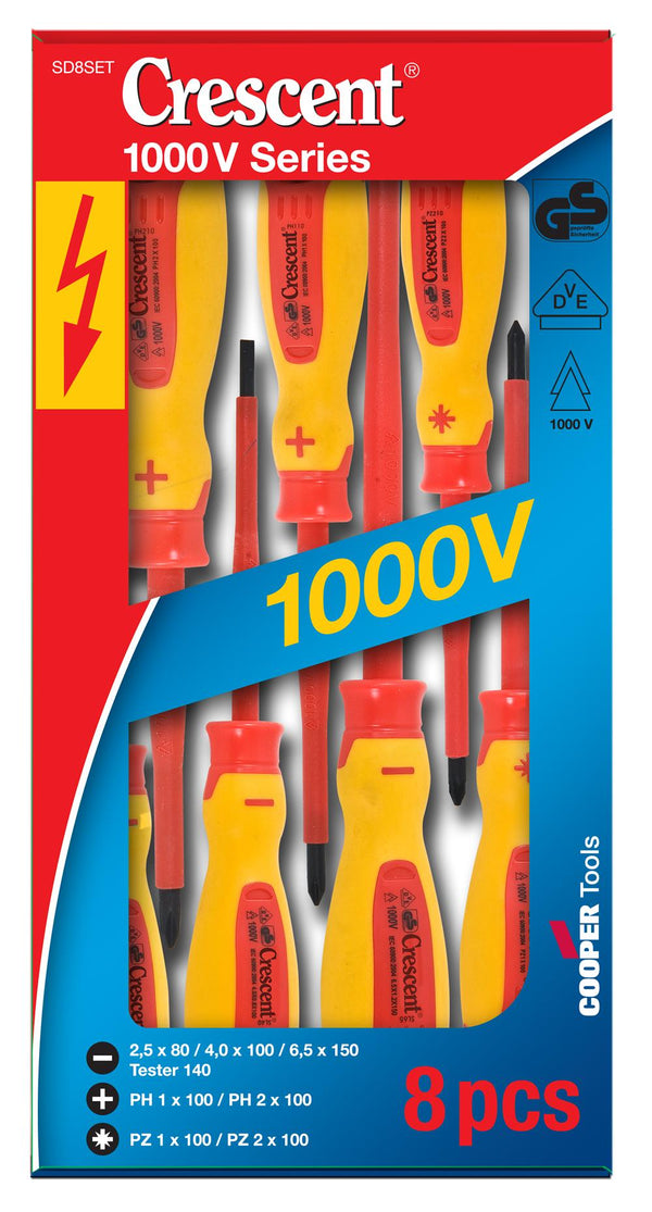 nsulated Electrical Screwdriver Set 8 Piece